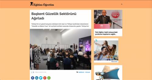 <p>02.10.2019</p><p>www.egitim-ogretim.com</p><p>BAŞKENT GÜZELLİK SEKTÖRÜNÜ AĞIRLADI</p>