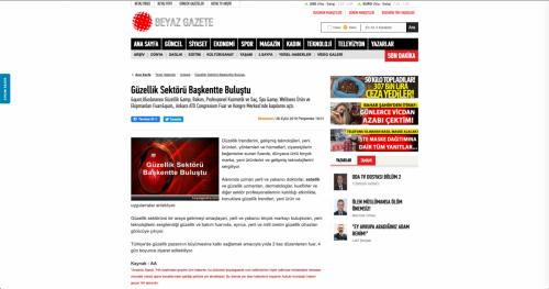 <p>26.09.2019<p>www.beyazgazete.com<p>GÜZELLİK SEKTÖRÜ BAŞKENTTE BULUŞTU