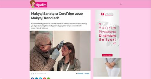 <p>21.09.2019<p>www.bigudim.com<p>MAKYAJ SANATÇISI CORCİ´DEN 2020 MAKYAJ TRENDLERİ!