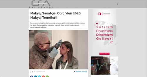 <p>21.09.2019<p>www.efa-efa.com<p>MAKYAJ SANATÇISI CORCİ´DEN 2020 MAKYAJ TRENDLERİ!
