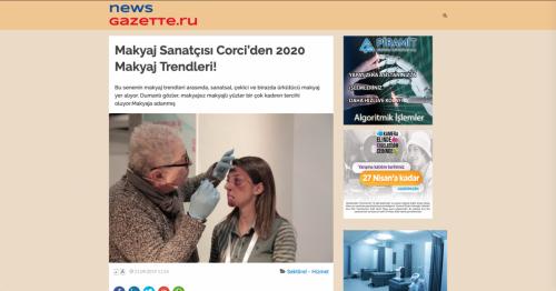 <p>21.09.2019<p>www.newsgazette.ru<p>MAKYAJ SANATÇISI CORCİ´DEN 2020 MAKYAJ TRENDLERİ!