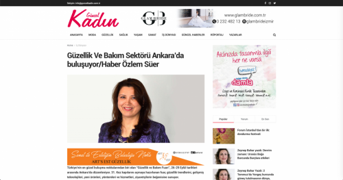 <p>14.09.2019<p>www.guncelkadin.com.tr<p>GÜZELLİK VE BAKIM SEKTÖRÜ ANKARA´DA BULUŞUYOR/HABER ÖZLEM SÜER