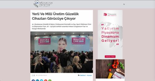 <p>13.09.2019<p>www.gundemdenevar.com<p>YERLİ VE MİLLİ ÜRETİM GÜZELLİK CİHAZLARI GÖRÜCÜYE ÇIKIYOR