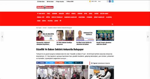 <p>11.09.2019<p>www.mahalligundem.com<p>GÜZELLİK VE BAKIM SEKTÖRÜ ANKARA'DA BULUŞUYOR